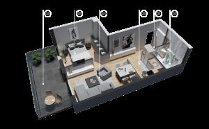 diatreta 3d display apartment 11
