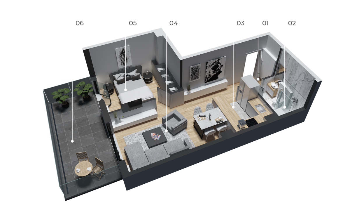 diatreta 3d display apartment 11