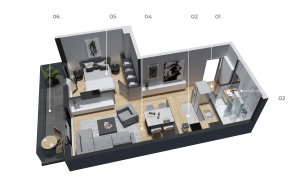 diatreta 3d display apartment 13