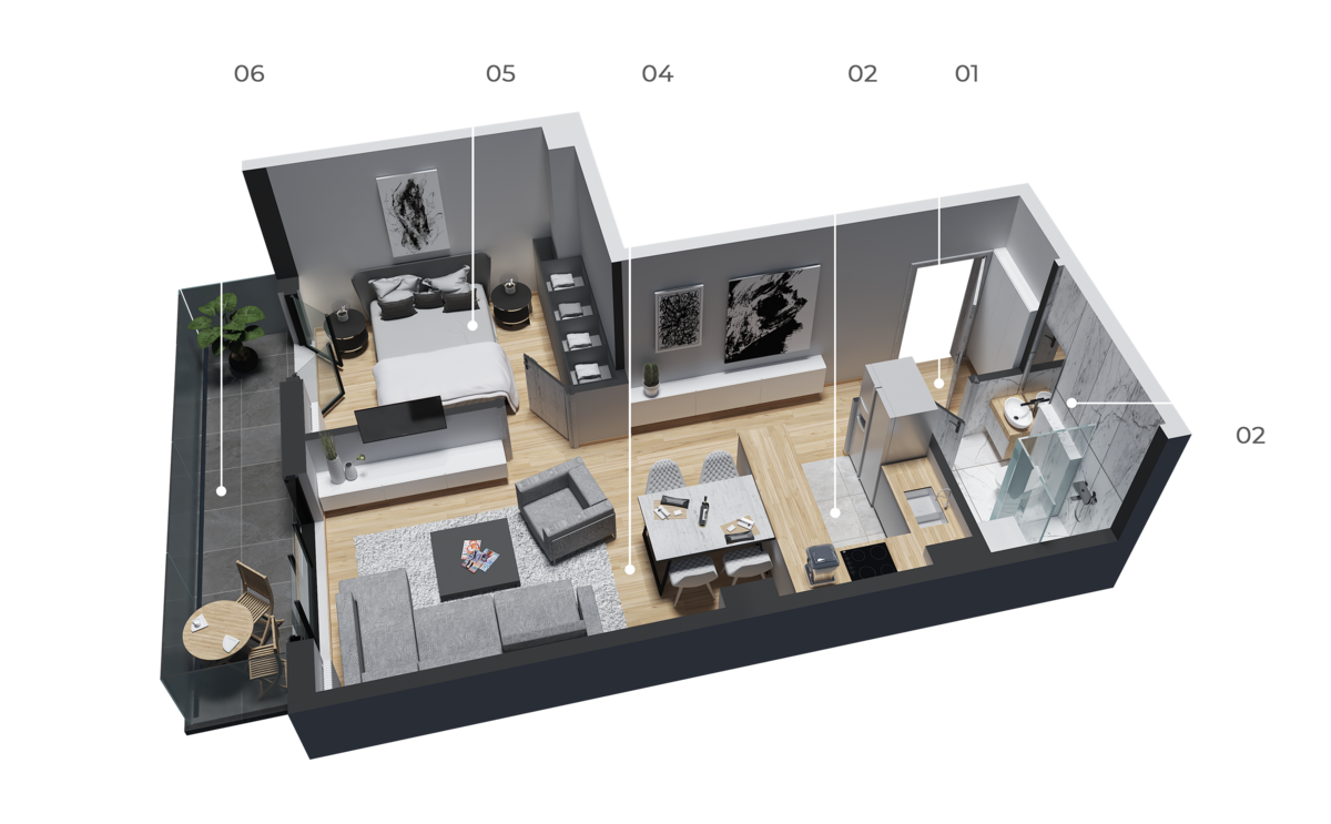 diatreta 3d display apartment 13
