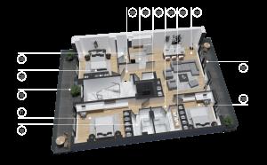 diatreta 3d display apartment 15