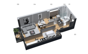 diatreta 3d display apartment 5