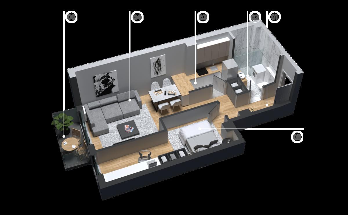 diatreta 3d display apartment 5