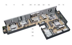 diatreta 3d display apartment 8