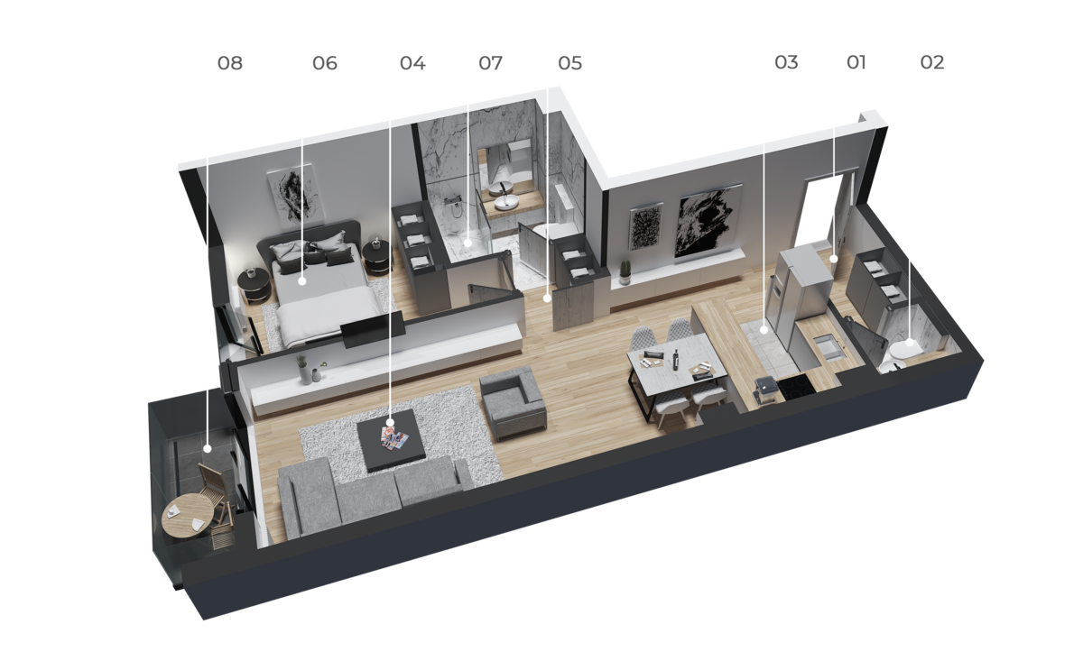 diatreta 3d display apartment 9