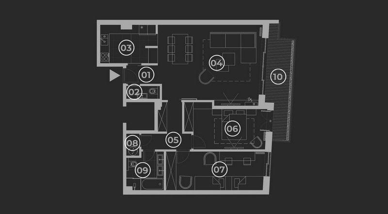 diatreta basis of the apartment 6